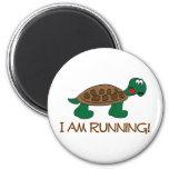 Running Tortoise 2 Inch Round Magnet