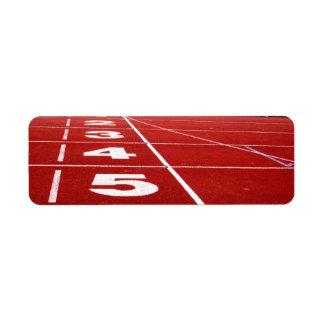 Running track return address label