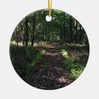 Running Trails are the best Trails Round Ceramic Ornament