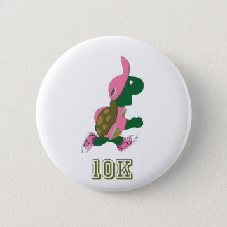 Running Turtle 10K - Pink 2 Inch Round Button