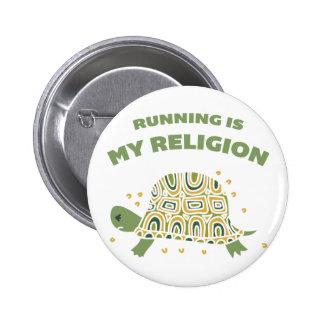 Running Turtle 2 Inch Round Button