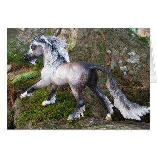 Running Unicorn Card