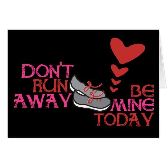 Running Valentine - Runner Valentine's Day Card