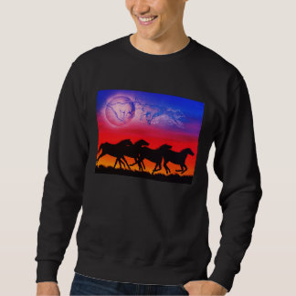 Running with the moon / Running earth and sky Sweatshirt