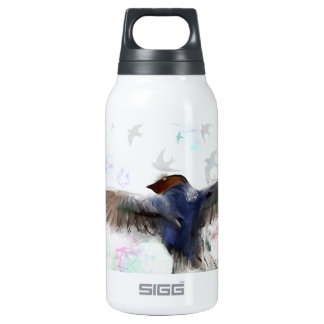 running with the swallows insulated water bottle