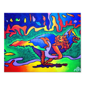 Running Wolf by Piliero Card