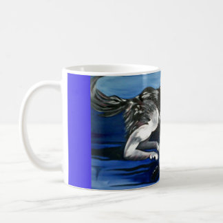 Running wolf mug