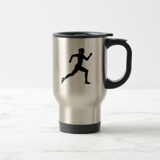 Running woman girl travel mug