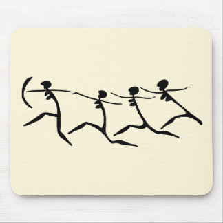 Running Women-BW Mouse Pad