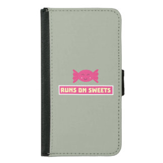 Runs in Sweets funny Z9s1b Samsung Galaxy S5 Wallet Case