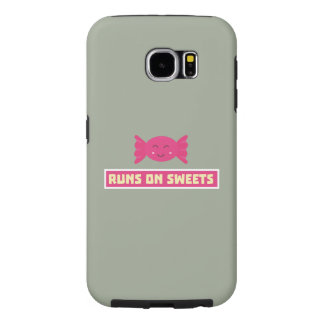 Runs in Sweets funny Z9s1b Samsung Galaxy S6 Cases