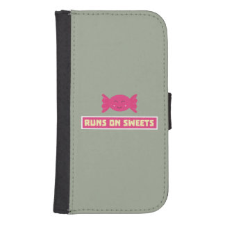 Runs in Sweets funny Z9s1b Samsung S4 Wallet Case