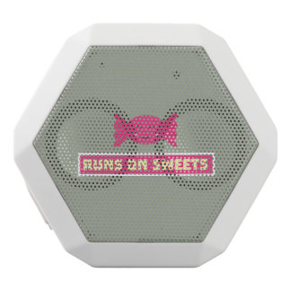 Runs in Sweets funny Z9s1b White Bluetooth Speaker