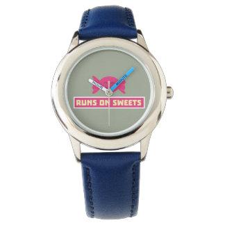 Runs in Sweets funny Z9s1b Wrist Watch