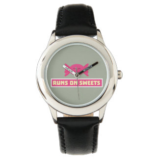 Runs in Sweets funny Z9s1b Wrist Watches
