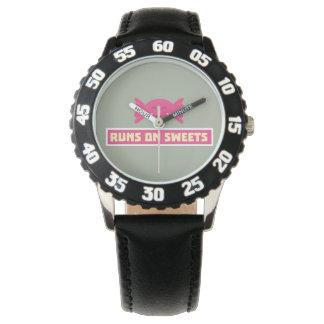 Runs in Sweets funny Z9s1b Wristwatch