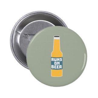 Runs on Beer Bottle Zcy3l 2 Inch Round Button