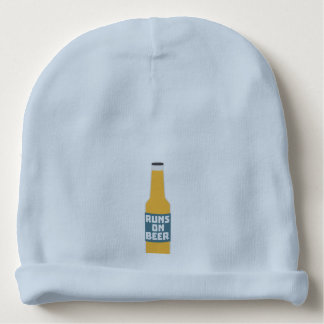 Runs on Beer Bottle Zcy3l Baby Beanie