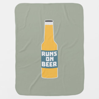 Runs on Beer Bottle Zcy3l Baby Blanket