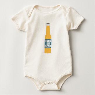 Runs on Beer Bottle Zcy3l Baby Bodysuit