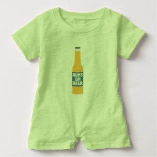 Runs on Beer Bottle Zcy3l Baby Romper
