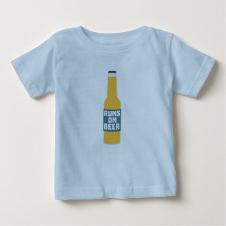 Runs on Beer Bottle Zcy3l Baby T-Shirt