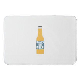 Runs on Beer Bottle Zcy3l Bath Mat