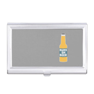 Runs on Beer Bottle Zcy3l Business Card Holder