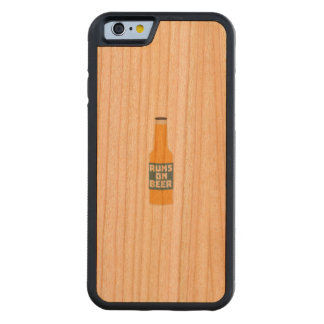 Runs on Beer Bottle Zcy3l Carved Cherry iPhone 6 Bumper Case