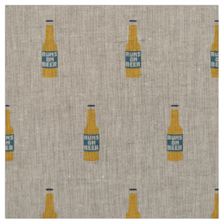 Runs on Beer Bottle Zcy3l Fabric