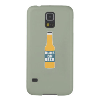Runs on Beer Bottle Zcy3l Galaxy S5 Cover