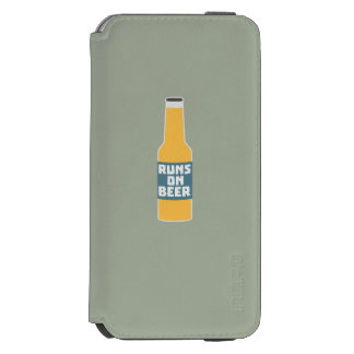 Runs on Beer Bottle Zcy3l Incipio Watson™ iPhone 6 Wallet Case