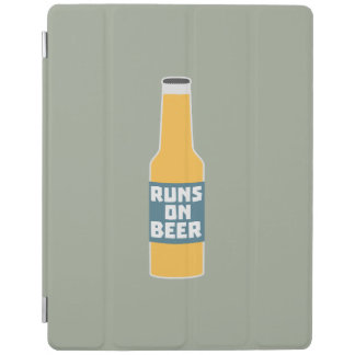 Runs on Beer Bottle Zcy3l iPad Cover