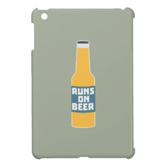 Runs on Beer Bottle Zcy3l iPad Mini Case