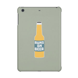 Runs on Beer Bottle Zcy3l iPad Mini Retina Cover