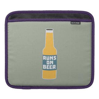 Runs on Beer Bottle Zcy3l iPad Sleeve