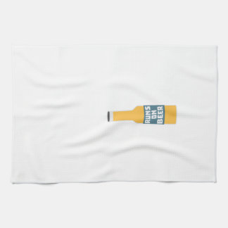 Runs on Beer Bottle Zcy3l Kitchen Towel