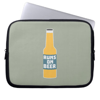 Runs on Beer Bottle Zcy3l Laptop Sleeve