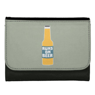 Runs on Beer Bottle Zcy3l Leather Wallet For Women