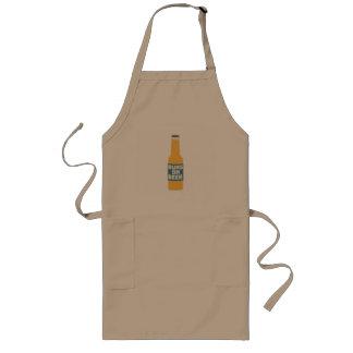 Runs on Beer Bottle Zcy3l Long Apron