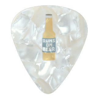 Runs on Beer Bottle Zcy3l Pearl Celluloid Guitar Pick