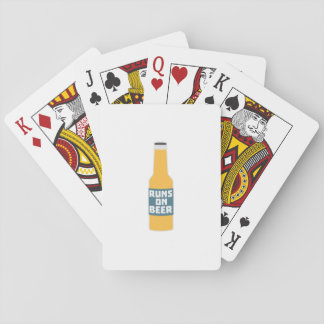 Runs on Beer Bottle Zcy3l Playing Cards