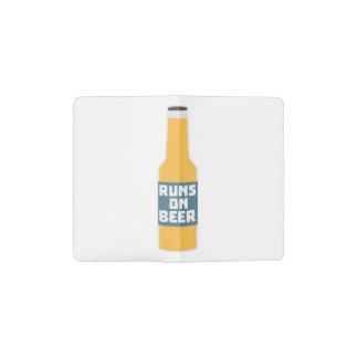 Runs on Beer Bottle Zcy3l Pocket Moleskine Notebook