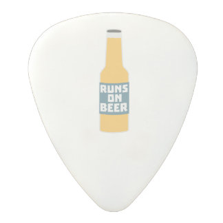Runs on Beer Bottle Zcy3l Polycarbonate Guitar Pick