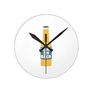 Runs on Beer Bottle Zcy3l Round Clock