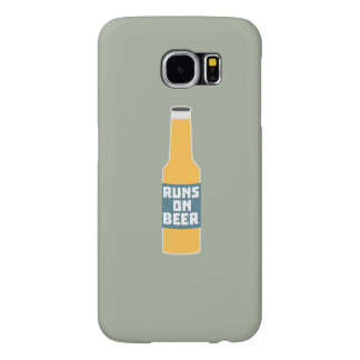 Runs on Beer Bottle Zcy3l Samsung Galaxy S6 Cases