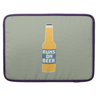 Runs on Beer Bottle Zcy3l Sleeve For MacBook Pro