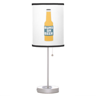 Runs on Beer Bottle Zcy3l Table Lamp