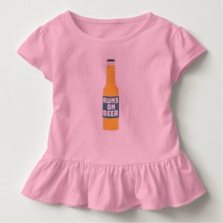 Runs on Beer Bottle Zcy3l Toddler T-shirt
