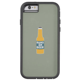 Runs on Beer Bottle Zcy3l Tough Xtreme iPhone 6 Case